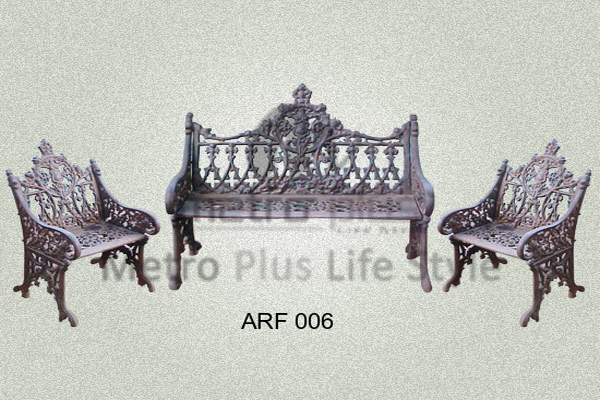 Cast Iron Sofa Set
