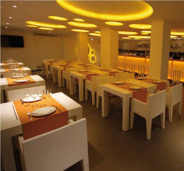 Modern restaurant furniture chairs in